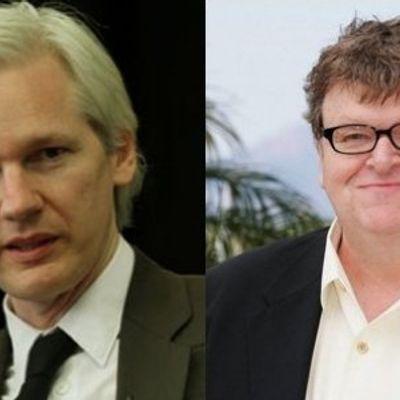 Michael Moore Plays Hero to WikiLeaks Cofounder...