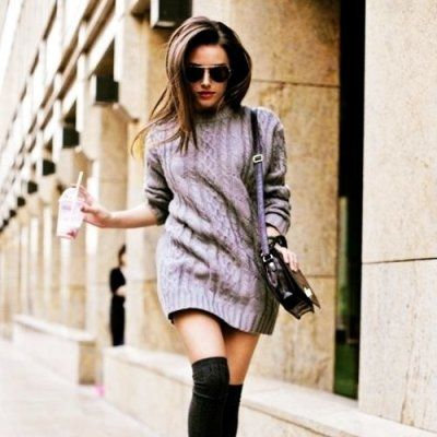 Give Your Sweater Dress a Twist This Winter ...