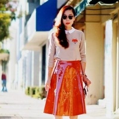 7 Fashion-Forward Patent Skirts and How to Wear Them ...