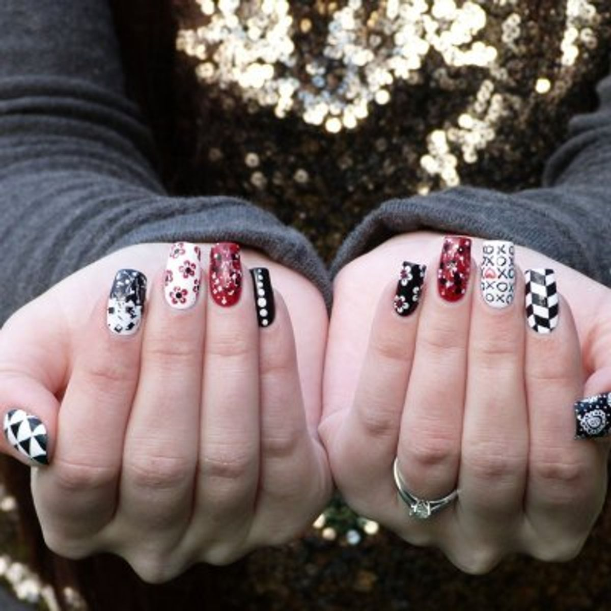 Diese 20 Black And White Nail Art Muster Will Rock Your World...