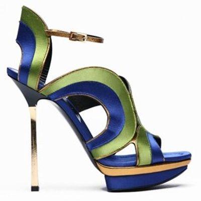 4 Beautiful Metallic Diego Dolcini Platform Shoes ...