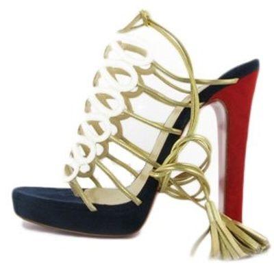 6 Gorgeous Metallic Christian Louboutin Sandals ...