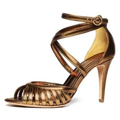 6 Glamorous Metallic Donna Karan Sandals ...