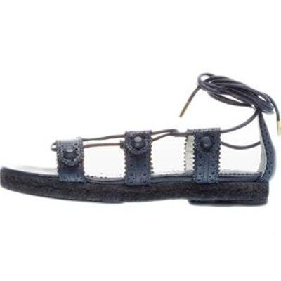 4 Fabulous Navy Balenciaga Sandals ...