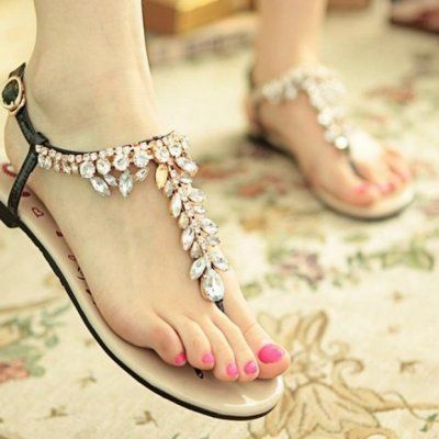 Get Ready for Some Bling: 38 Pairs of Jeweled Flip Flops to Wear All Summer Long ...