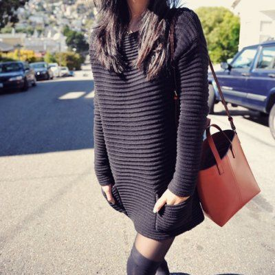 Streetstyle Ways to Wear a Sweater Dress in the Summer ...