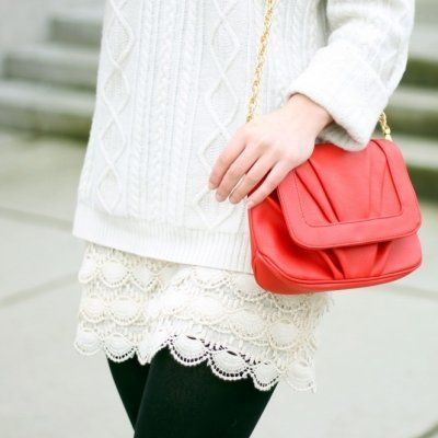 Trend Alert: White Lace Skirts!