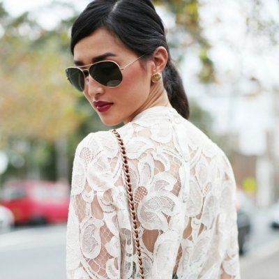 7 Street Style Ways to Wear Lace This Fall ...