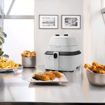 Delonghi Dual Zone Deep Fryer with Stainless Steel Exterior ...