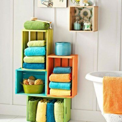7 Shabby Chic  Towel Storage  Options for Women Who like to Organize ...