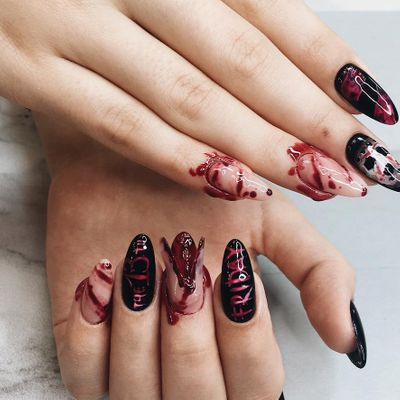 Spooky 👻 Halloween Nail 💅 Ideas 💡 to Try from Pinterest 💻 ...