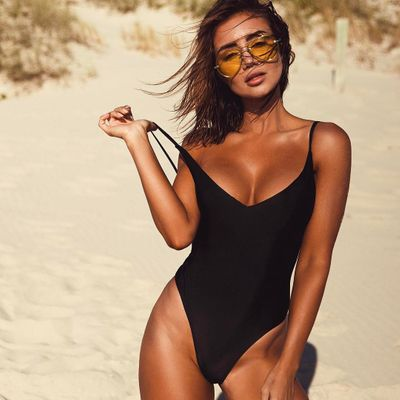 Black One Piece Swimsuits  Thatll Have You Sleek and Cool  All Summer  Long ...