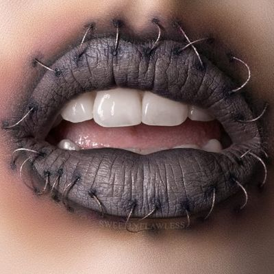 Halloween Makeup 101: How to Create a Stitched Mouth ...