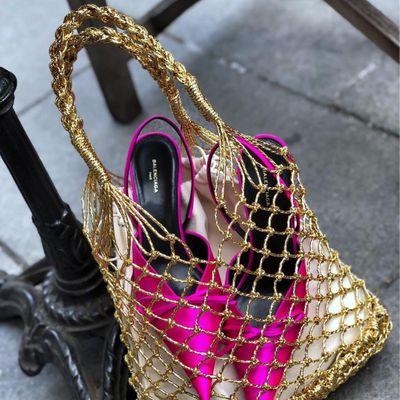 Chanel Metallic Gilt Leather Bag ...