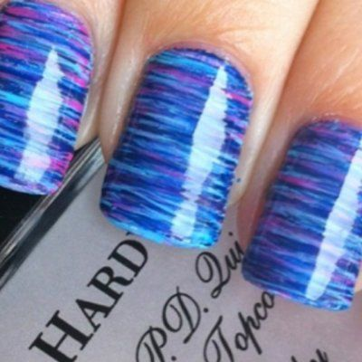 How to Create Fabulous Striped Nails Using Floss ...