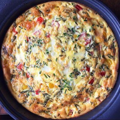 Delicious Keto White Pizza Frittata ...