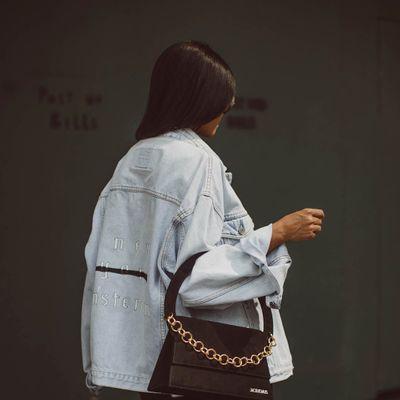 The Yves Saint Laurent Croc-Embossed Overseas Handbag