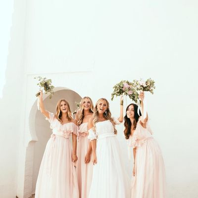 7 Lovely White by Vera Wang Bridesmaid Dresses ...