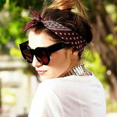 Cute 🤗 Ways to Style Your Hair 💆♀️ with a Bandana 🧣 ...