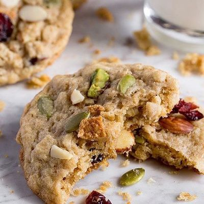 Microwave Baked Trail Mix Cookies ...