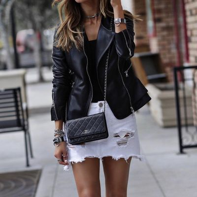 7 Unique Takes on the Leather Biker Jacket Trend ...