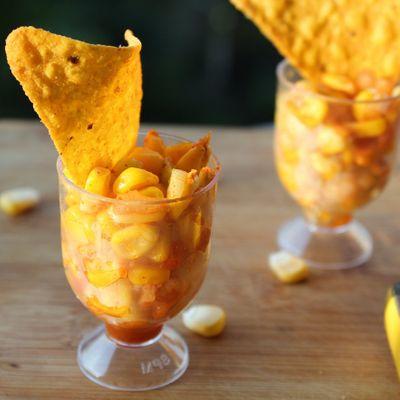 """Nacho"" 🧀 Typical Appetizer 🍡-Corn 🌽 Shots ..."