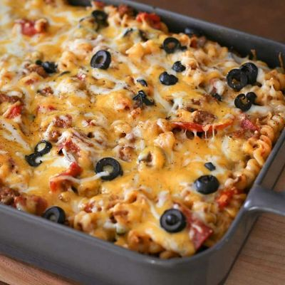Look Here for a Delicious Microwave Pizza Casserole Video Tutorial ...