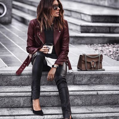 7 Luxe Leather Shirts ...