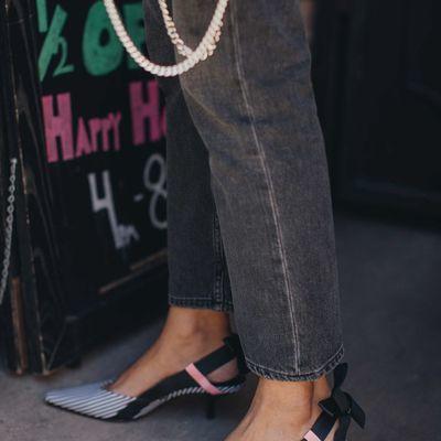 5 Gorgeous Metallic Donna Karan High Heels ...