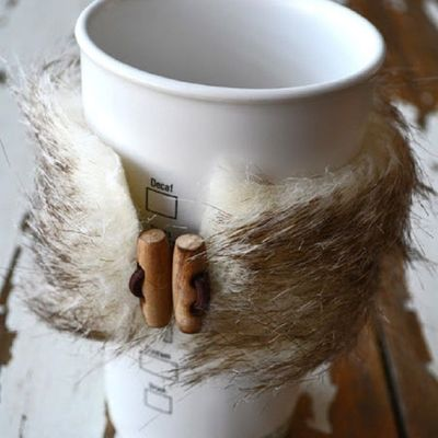 Video 🎞 Tutorial for DIY 🖍 Fur Coffee Cup ☕️ Covers ...